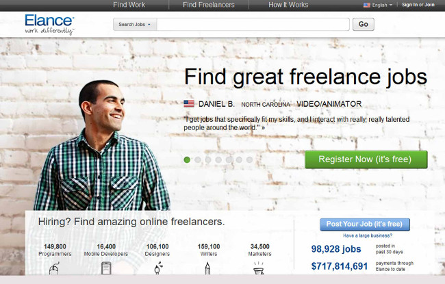 elance Best Freelance Writing Jobs for Beginners